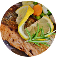 Saumon et sa sauce soja caramélisée
